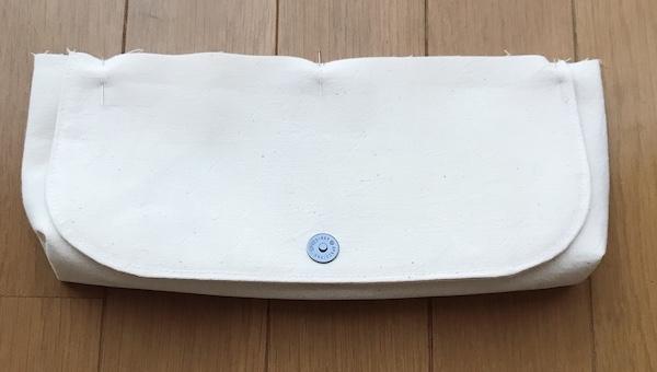 スイッチケース 本体とふたの縫い合わせ