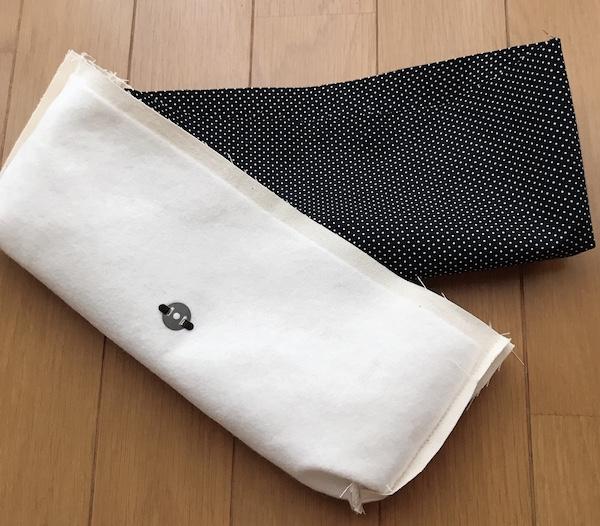スイッチケース表布と裏布の縫い合わせ