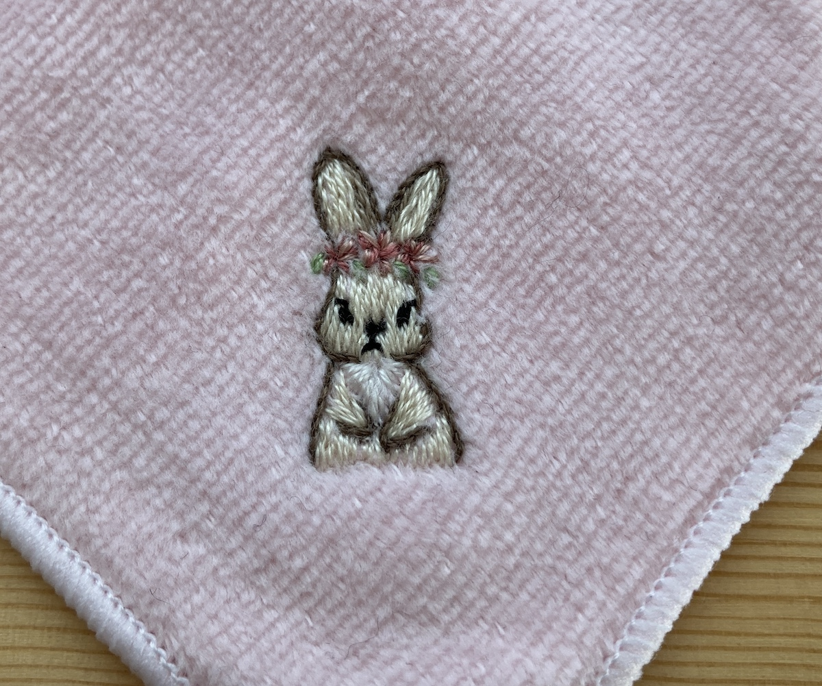 タオルハンカチ刺繍やり方
