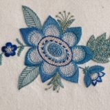 レトロな花の刺繍