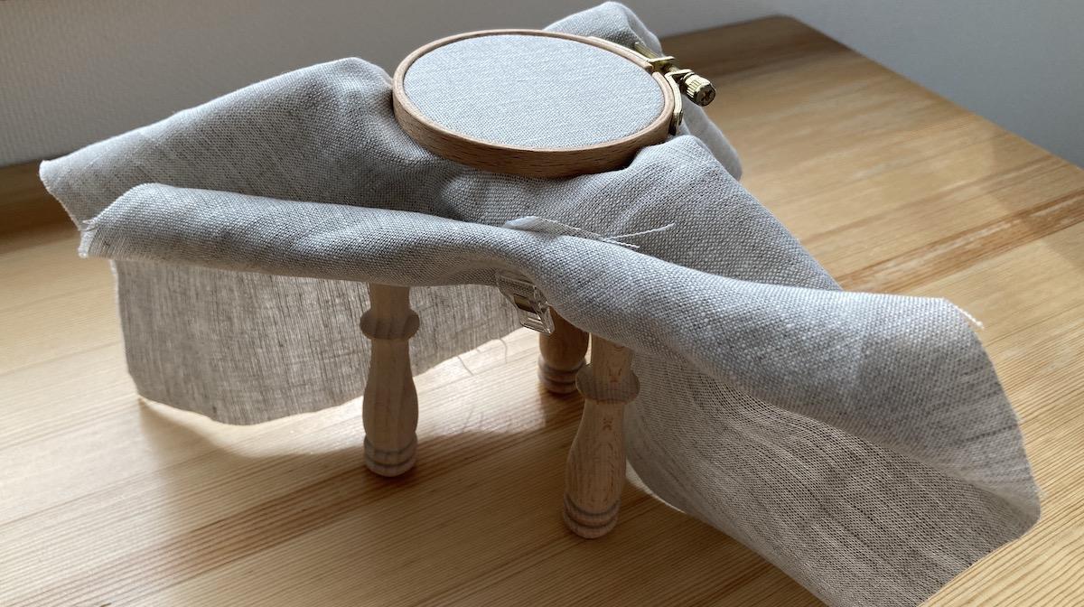 小さい枠 粗刺繍枠スタンド