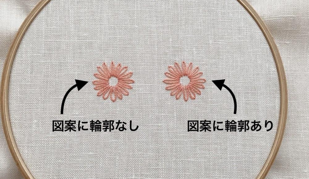 レゼーデージーステッチでお花を刺繍するコツ