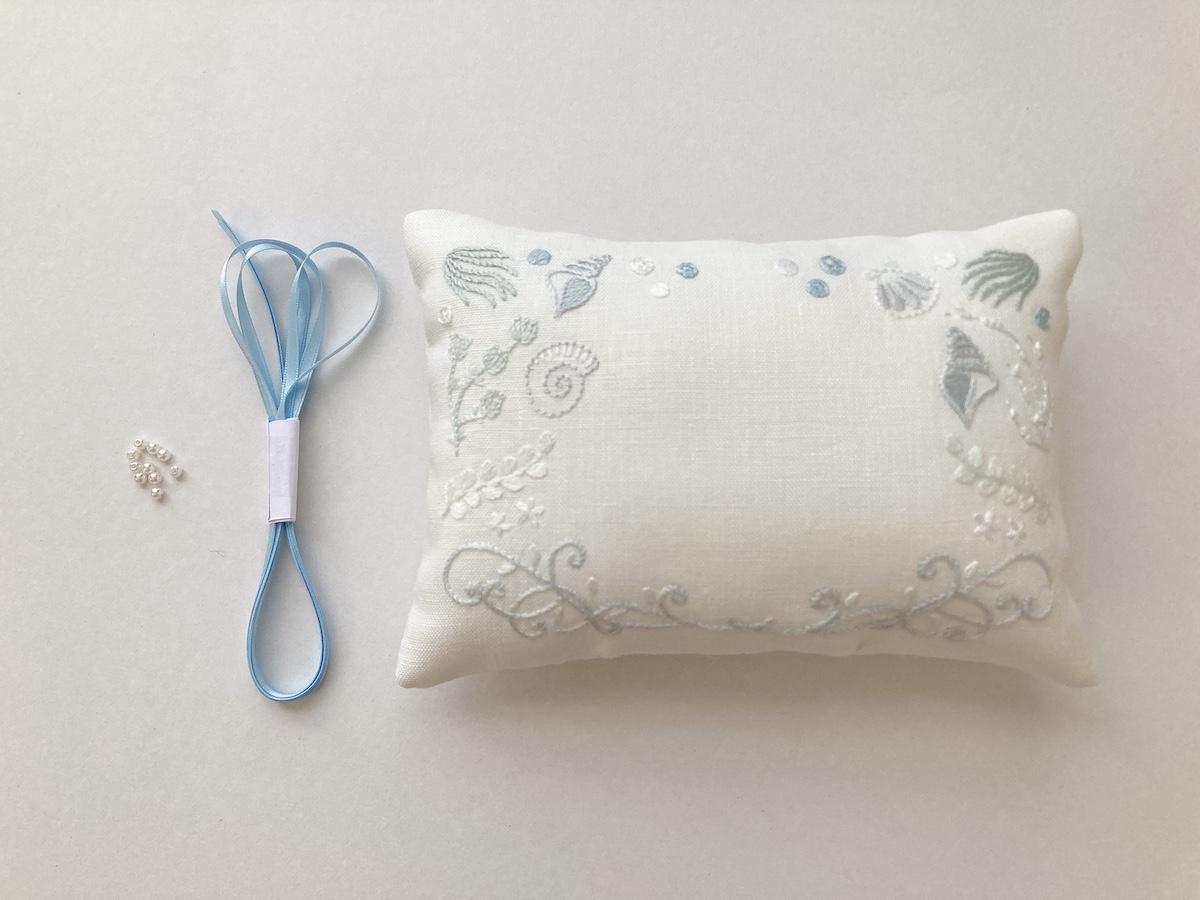 刺繍リングピロー