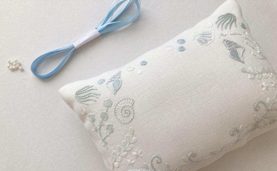 オーダーメイド刺繍リングピロー